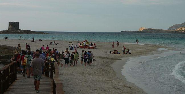 Pláž La Pelosa Sardinie