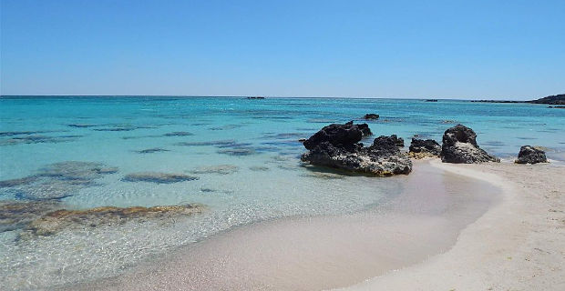 Elafonisi Beach Kréta