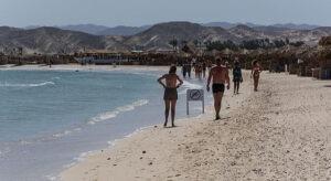 Pláž v Marsa Alam, Egypt