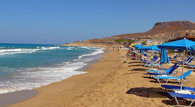 Pláž v Heraklionu