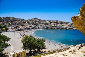 Matala Beach na Krétě